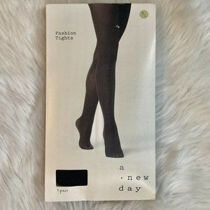 A New Day Fashion Tights Size M/L Black/Gold NEW